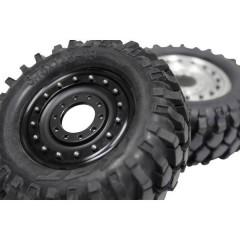 1:14 Camion Cerchi Alluminio Beadlock Nero 1 Paio/a