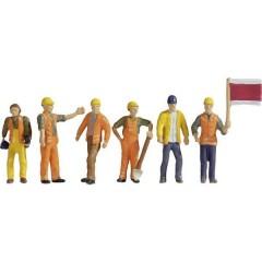 Personaggi in scala TT operaio che lavora sui binari