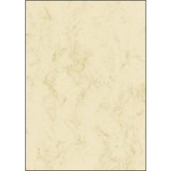 Carta con motivo decorativo marmorizzato DIN A4 90 gm² Beige 25 Foglio
