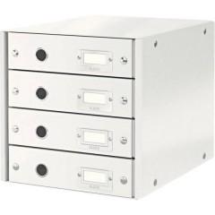 Click & Store Cassettiera Bianco DIN A4 Numero cassetti: 4