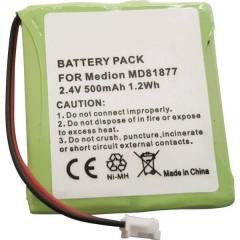 TSinus-battery Batteria ricaricabile per telefono cordless Adatto per marchi: Amstrad, Audioline,