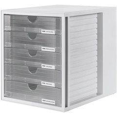SYSTEMBOX Cassettiera Grigio DIN A4, DIN C4 Numero cassetti: 5