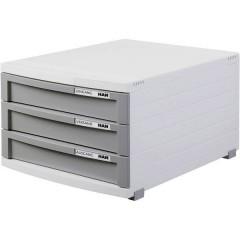 Cassettiera Grigio luminescente DIN A4, DIN B4, DIN C4 Numero cassetti: 3