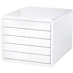 i-Box Cassettiera Bianco DIN A4, DIN C4 Numero cassetti: 5