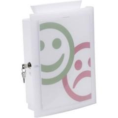 Scatola porta documenti IMAGEIN, con chiusura a chiave, con accessori, bianco
