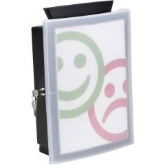 Scatola porta documenti IMAGEIN, con chiusura a chiave, con accessori, nero