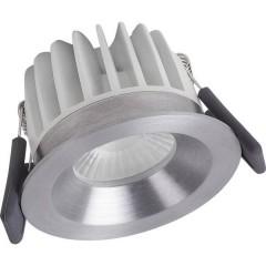 SPOT DIM Lampada a LED da incasso per bagno 8 W Bianco caldo Argento
