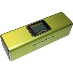MusicMan MA Display Soundstation Mini altoparlante AUX, Radio FM, USB Verde