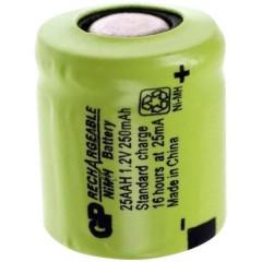 GP25AAH Batteria ricaricabile speciale 1/3 AA Flat Top NiMH 1.2 V 250 mAh