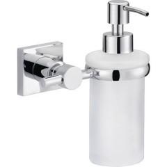 hukk Distributore di sapone 200 ml Cromo (lucido), Bianco (raso)
