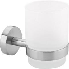 MOON Bicchiere portaspazzolini Colla Argento, Bianco (raso)