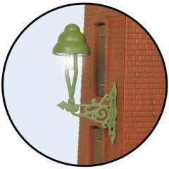 H0 Lampione a muro singola Modello pronto, già assemblato 1 pz.