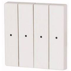 CWIZ-04/01-LED xComfort 4 canali Pulsante a bilanciere Bianco puro