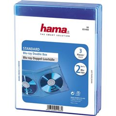 Busta per Bluray 2 vie 2 CD/DVD/Blu-ray Polipropilene Blu 3 pz. (L x A x P) 135 x 170 x 10 mm