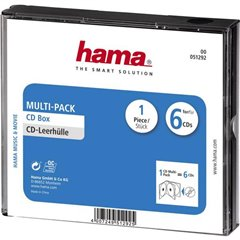 Busta per CD 6 scomparti 6 CD/DVD/Blu-ray Polistirolo Nero 1 pz. (L x A x P) 142 x 125 x 24 mm