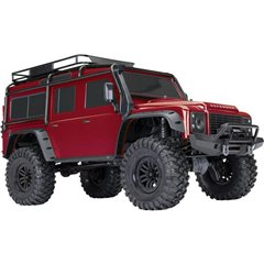 Landrover Defender Rosso Brushed Automodello Elettrica Crawler 4WD RtR 2,4 GHz