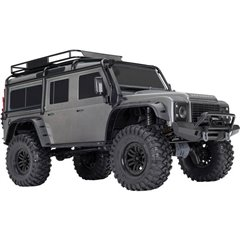 Landrover Defender Argento Brushed Automodello Elettrica Crawler 4WD RtR 2,4 GHz