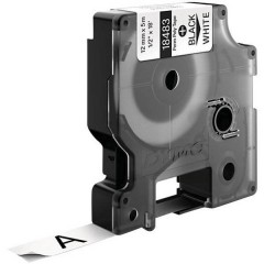 Cassetta nastro IND RHINO 18764 Poliestere Colore Nastro: Bianco Colore carattere:Nero 12 mm 5.5 m