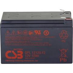 GPL 12120 Batteria al piombo 12 V 12 Ah Piombo-AGM (L x A x P) 151 x 100 x 98 mm Spina piatta