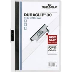 Cartellina con clip DURACLIP 30 - 2200 DIN A4 Bianco