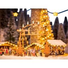 H0 Laser-Cut mini mercatino di Natale foglio di ingresso