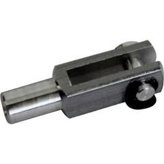 Alluminio Forcella con filettatura interna M4 5 pz.