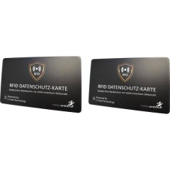 Scheda RFID NFC Blocker Card Nero 2 pz.