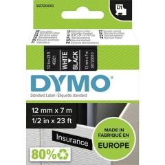 Cassetta nastro D1 45021 Colore Nastro: Nero Colore carattere:Bianco 12 mm 7 m