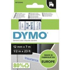 Cassetta nastro D1 45014 Colore Nastro: Bianco Colore carattere:Blu 12 mm 7 m