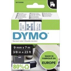 Cassetta nastro D1 40914 Colore Nastro: Bianco Colore carattere:Blu 9 mm 7 m