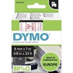 Cassetta nastro D1 40915 Colore Nastro: Bianco Colore carattere:Rosso 9 mm 7 m