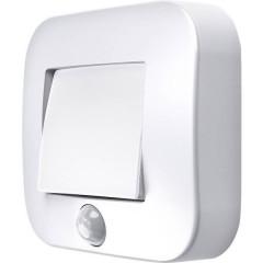 NIGHTLUX® Hall L Luce notturna LED con sensore di movimento Quadrato LED (monocolore) Bianco