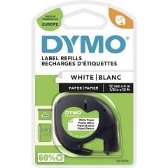 LT Cassetta nastro Colore Nastro: Bianco Colore carattere: Nero 12 mm 4 m
