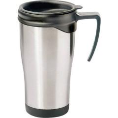 Tazza termica Acciaio inox (spazzolato), Nero 0.4 l