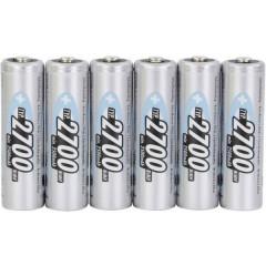 4+2 HR06 Batteria ricaricabile Stilo (AA) NiMH 2700 mAh 1.2 V 6 pz.