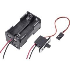 Portabatterie con interruttore per modellismo Sistema innesto: JR
