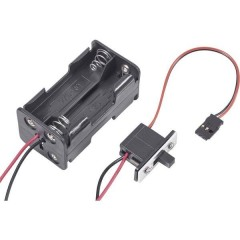 Portabatterie con interruttore per modellismo Sistema innesto: Futaba