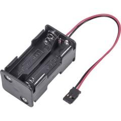 Portabatterie senza interruttore per modellismo Sistema innesto: Futaba