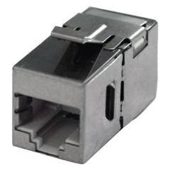 RJ45 Rete Adattatore CAT 6 [1x Presa RJ45 - 1x Presa RJ45] acciaio inox