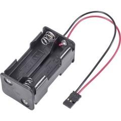 Portabatterie senza interruttore per modellismo Sistema innesto: JR