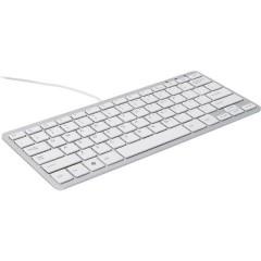 Compact USB Tastiera Inglese, QWERTY Bianco Ergonomico