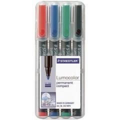 Lumocolor permanent compact DRY SAFE Marcatore indelebile Nero resistente allacqua: Sì