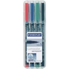 Lumocolor permanent S DRY SAFE Marcatore indelebile Rosso, Blu, Verde, Nero resistente allacqua: Sì