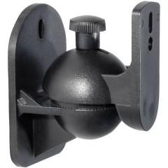 Supporto a muro per altoparlante Inclinabile + girevole Distanza dalla parete (max.): 6 cm Nero 1 Paio/a