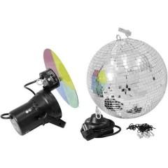Lampadina Alogena KIT palla a specchi con motore, con ruota cambiacolori 30 cm