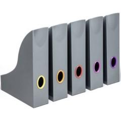 VARICOLOR® Porta riviste DIN A4 Grigio, Multicolore 5 pz.