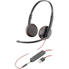 Blackwire C3225 binaural Cuffie Jack 3,5 mm, USB Filo Cuffia On Ear Nero