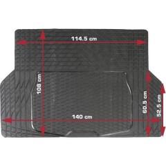 Tappetino per baule e bagagliaio Adatto per (modello auto) Universal (L x L) 108 cm x 140 cm Nero