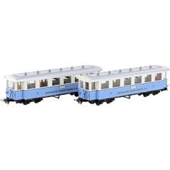 Treno ferroviario bavarese 2 vagoni passeggeri
