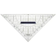 Squadra da disegno tecnico Trasparente Lunghezza ipotenusa: 22 cm